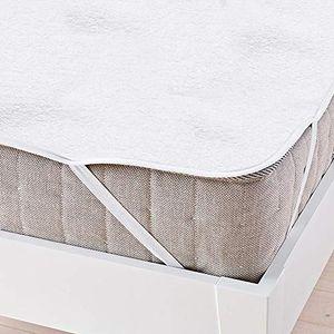 karpal Matratzenschoner 160 x 200 cm Komfort Baumwolle Matratzenauflage, Wasserdicht und Atmungsaktive Matratzenauflage, gegen Milben, Weiss¡