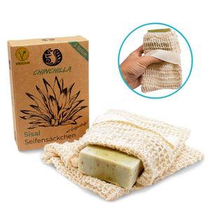 Sisal Seifensäckchen 2er Set | Aufbewahrung für Seifenreste & festes Shampoo