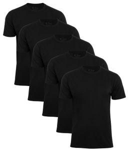 Baumwolle Prime® 5er Pack T-Shirt O-Neck - Tee XXL Schwarz