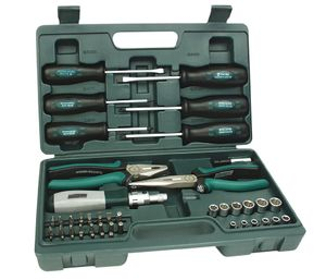 BRÜDER MANNESMANN Werkzeugsatz Kombi 45-teilig