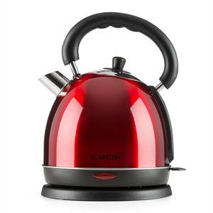 Klarstein Teatime Wasserkocher Teekessel  ,  1850 - 2200 W  ,  Fassungsvermögen: 1,8 l  ,  Cool-Touch-Griff  ,  rostfreier Edelstahl  ,  rubinrot