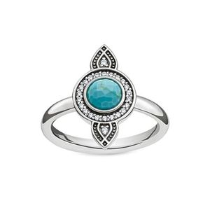 """Thomas Sabo Ring Sterling Silver """"Ethno Traumfänger"""" TR2090-646-17 : 54"""