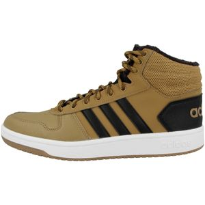 adidas Sneaker high HOOPS 2.0 MID Größe 9.5, Farbe: Mesa/Black