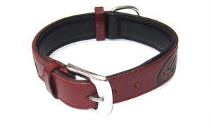 "Heim Halsband ""Savanne"", 35mm breit / 70cm lang, bordeaux, 218170"