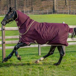 Horseware Amigo Hero Ripstop Plus Lite 0g - Fig/Navy & Tan, Größe:145