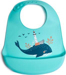 Silikon Wal Lätzchen mit Auffangschale - Baby- und Kleinkind-Lätzchen - Verstellbar und Wasserdicht