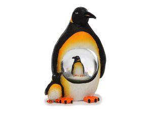 Glitzerkugel Pinguin, 11 cm,  Schneekugel Tier Tiere Schneekugeln Pinguine