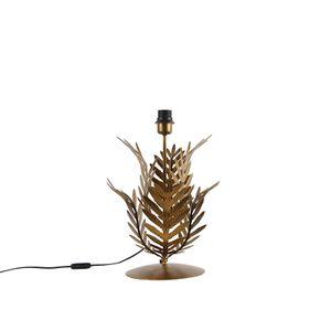 QAZQA - Landhaus | Vintage Vintage Gold | Messing Tischlampe ohne Schirm - Botanica | Schlafzimmer - Stahl Organisch - LED geeignet E27