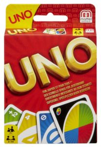 UNO Kartenspiel im Thekendisplay
