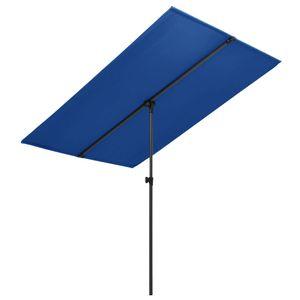 vidaXL Sonnenschirm mit Aluminium-Mast 180 x 130 cm Azurblau