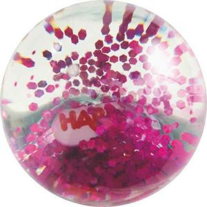 HABA 303019 - Kullerbü, Effektkugel Pink-Glitzer, Flummi 4010168228457