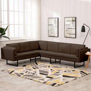 Hochwertiger - Sofa Ecksofa Eckcouch | Relaxsofa Relaxcouch Wohnlandschaft Couch Braun Stoff #DE62575