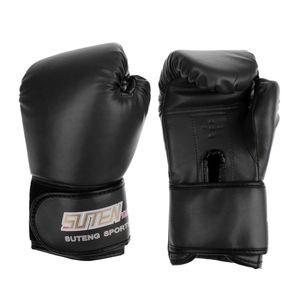 1 Paar PolyurethanBoxhandschuhe Handschuhe MMA Muay Thai Punching Training Sparring Schwarz 25 x 12 cm