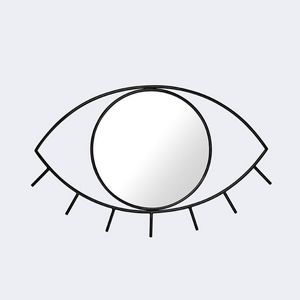 Doiy wandspiegel Cyclops 43 x 3,5 x 28 cm Glas/Metall schwarz