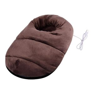 Elektrische beheizte fuß wärmer weicher komfort warme füße winter heiße sli Kaffee 38 x 38 x 8 cm Elektrischer Fußwärmer