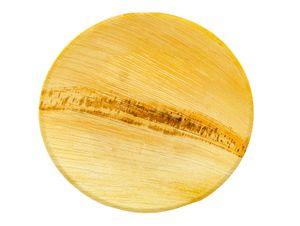 Naturblatt Palmblatt Teller rund Ø 18 cm 25 Stück | Palmblattgeschirr einweggeschirr kompostierbar