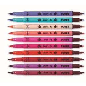 Djeco DJ08802 Farben: 10 Filzstifte-M?dchenfarben