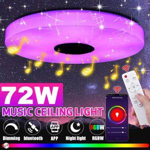 DIMMBAR 72W RGB LED Deckenleuchte Deckenlampe bluetooth Lautsprecher APP Remote