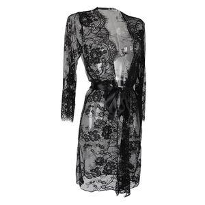 Damen Mutterschaft Fotografie Kleid Lange Blumenspitze Kimono Cover Up White wie beschrieben Schwarz XL
