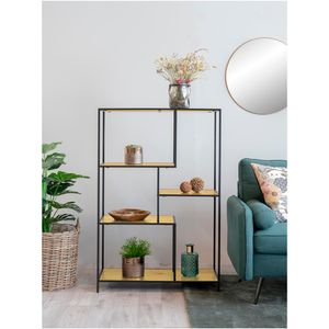 Selsey Standregal SEAFORD - Bücherregal im Industrial-Style - 120 x 80 cm