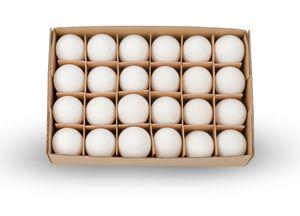 Hühnereier, weiß, Packung von 24 Stück | Dekoeier
