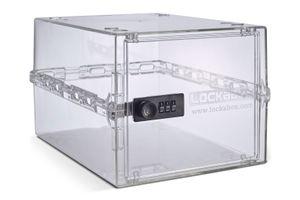 Lockabox One Abschließbare Medikamentenbox - Transparent