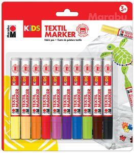Marabu KiDS Textilmarker 10 x 3 ml 10er Blister
