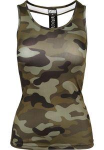 Urban Classics Female Shirt Ladies Camo Top Wood Camouflage-M