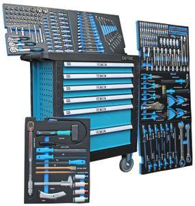DeTec. 3066 Werkstattwagen 6/6 Schubladen gefüllt mit Werkzeug