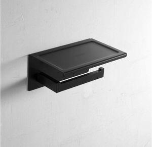 Toilettenpapierhalter Ohne Bohren mit Ablage, Klopapierhalter SUS304 Edelstahl selbstklebend WC rollenhalter Wandmontage