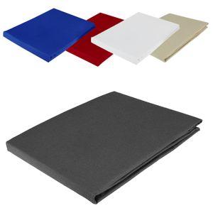 Bettlaken ohne Gummizug 150x250 cm, Farbauswahl:Anthrazit