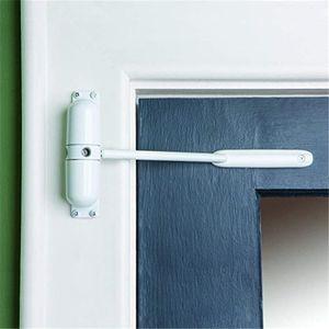 Mini-Türschließer / Anlehner in weiß - einfache Montage - kein Bohren oder Schrauben