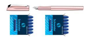 Schneider Füller Patronen Ceod Shiny Powder Pink Füller inkl. 12 Patronen