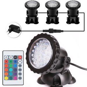 3 Lampe LED RGB Aquarium Unterwasser Tauch Pool Teich Lampe Garten Beleuchtung Teich Spotlight
