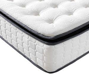 Vesgantti Matratze 120x200 7-Zonen Taschenfederkernmatratze Modern Tonnentaschenfederkernmatratze (H4, Fashion Pillow-top 27cm)