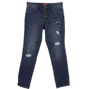 24412 S. Oliver, Boyfriend,  Damen Jeans Hose, Denim ohne Stretch, blue vintage, D 36 W 28 L 34