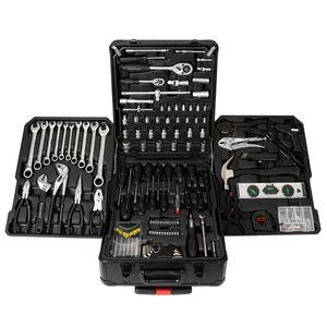 STAHLWERK Werkzeugkoffer Werkzeugtrolley Werkzeugkasten Einsteiger Set 186 Teile, modularer Aufbau