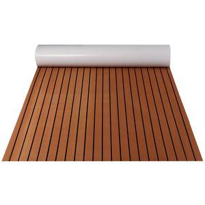 MECO Teak EVA Schaum Boot Yacht Bodenbelag-Matte Deck Teppich Selbstklebend 240*120cm Schwarz