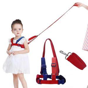 Baby Antiverlust Gürtel,2 in 1 Kinder Walking Sicherheit Geschirr Handgelenk Leine Strap für 0-5 Jahre Kinder(Blau + Rot)