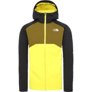 The North Face M Stratos Jacket Tnf Lemon/Tnf Blk/Fir Grn M