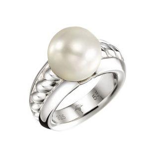 Joop Damen Ring Silber JPRG90493A570 Gr. 57 (18,1 mm Ø) Perle weiss