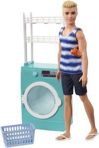 Barbie Ken Puppe und Waschmaschine Spielset