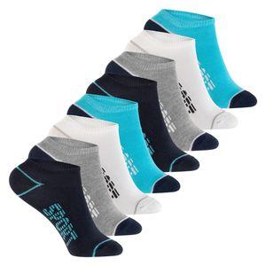 Footstar - 8 Paar Kinder Sneaker-Socken - Blau-Grau 31-34