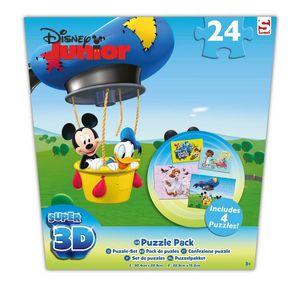 Disney Mickey Mouse Pirates 3D Puzzle Set 4x24 tlg Sofia Donald Duck Jack