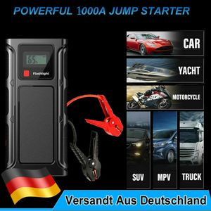 Auto KFZ Starthilfe Jump Starter 18000mAh 1000A Ladegerät Booster Powerbank