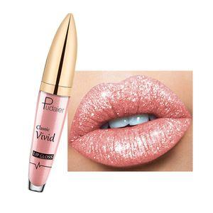 Feuchtigkeit spendender schimmer flüssiger lippenstift lang anhaltend farbenfro 3 Volle Größe Lipgloss Langlebiger Glitzer Wasserdicht
