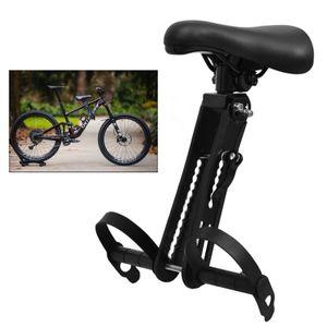 Einstellbare Kinderfahrradsitz für Mountainbikes Kindersitz Vorne Halterung Fahrradkindersitz Vorne Sitz abnehmbare Kindersitz Schwarz