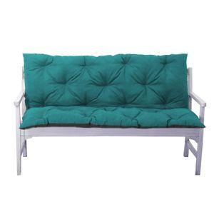 4L Textil Gartenbankauflage Bankauflage Bankkissen Sitzkissen Polsterauflage Sitzpolster (120x60x50, Petrol)