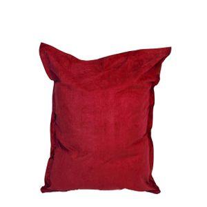 Lumaland Luxury Riesensitzsack XXL Microvelours Sitzsack 380l Füllung 140 x 180 cm Indoor Rot