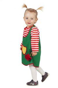 W3483-92 Baby-Kostüm Grünes-Kleid Karlinchen Gr.92
